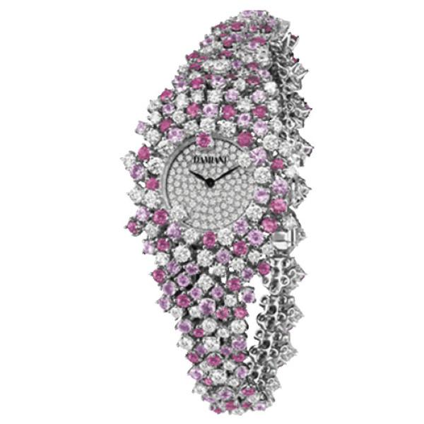 Часы Damiani Mimosa белое золото, бриллианты, рубины (30018685)