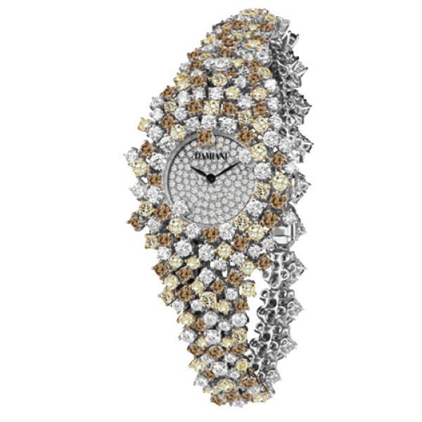 Часы Damiani Mimosa белое золото, цветные бриллианты (30018686)