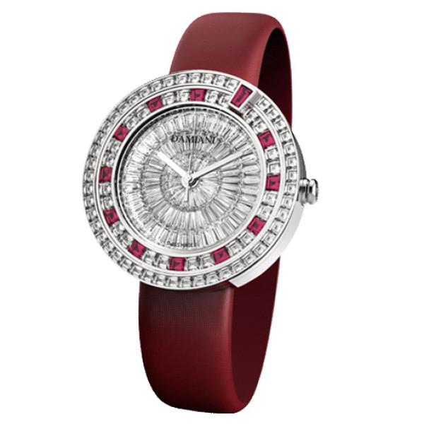 Часы Damiani Belle Epoque Masterpiece белое золото, бриллианты, рубины (30017780)