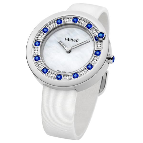 Часы Damiani Belle Epoque белое золото, бриллианты, сапфиры (30013982)