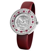 Часы Damiani Belle Epoque белое золото, бриллианты, рубины (30002911)