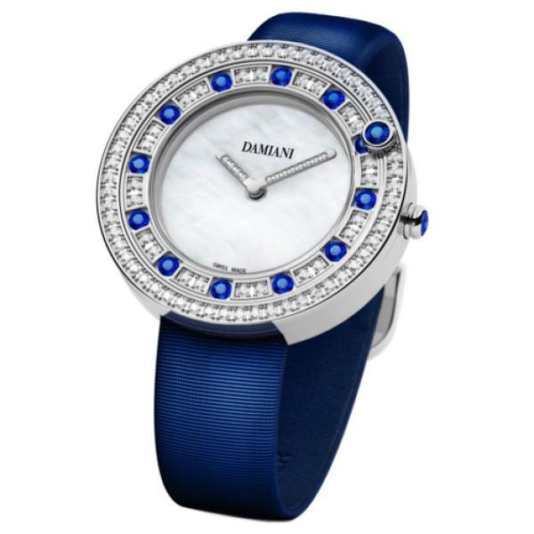 Часы Damiani Belle Epoque белое золото, бриллианты, сапфиры (30002912)