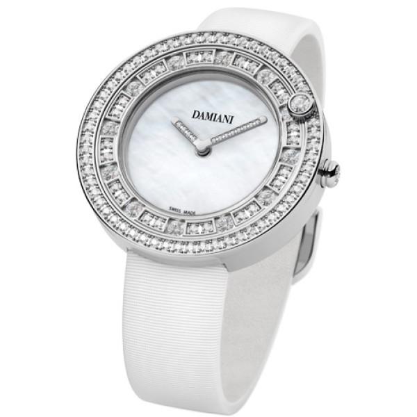 Часы Damiani Belle Epoque белое золото, бриллианты (30012001)
