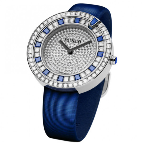 Часы Damiani Belle Epoque белое золото, бриллианты, сапфиры (30002916)