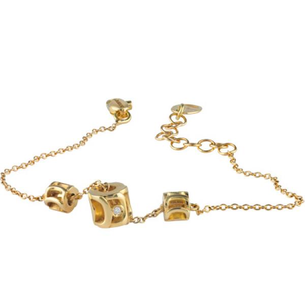 Браслет Damiani Mini Must желтое золото, бриллиант (20041977)