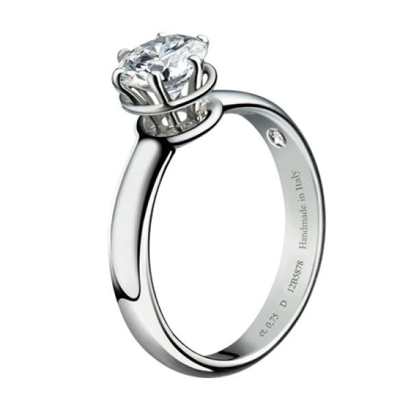 Кольцо Damiani Minou белое золото, крупный бриллиант