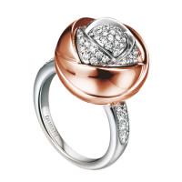 Кольцо Damiani Bocciolo белое, розовое золото, бриллианты (20024590)