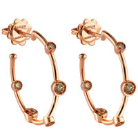 Серьги Damiani Moon Drops розовое золото, бриллианты (20040773)