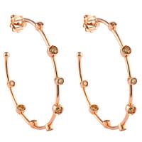 Серьги Damiani Moon Drops розовое золото, бриллианты (20040714)
