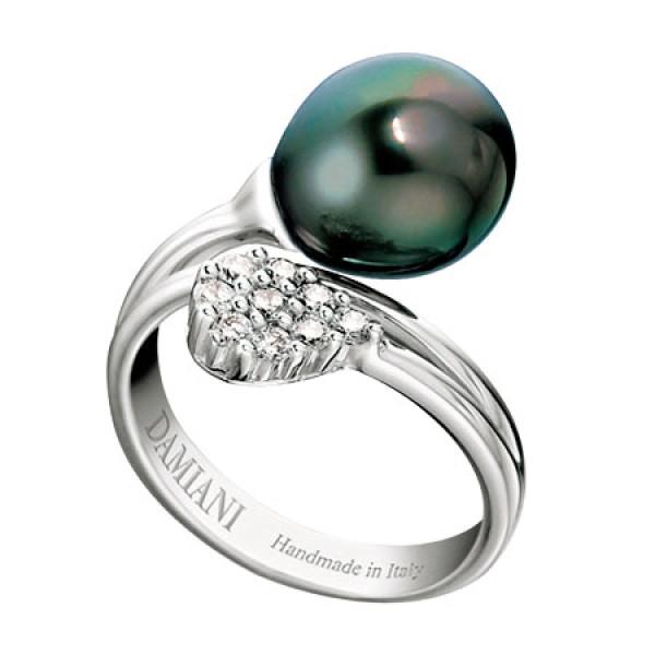 Кольцо Damiani Ninfea белое золото, бриллианты, жемчуг (20016940)