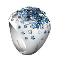Кольцо Damiani Paradise белое золото, бриллианты, сапфиры (20036995)