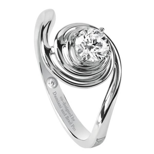Кольцо Damiani Promise белое золото, бриллиант