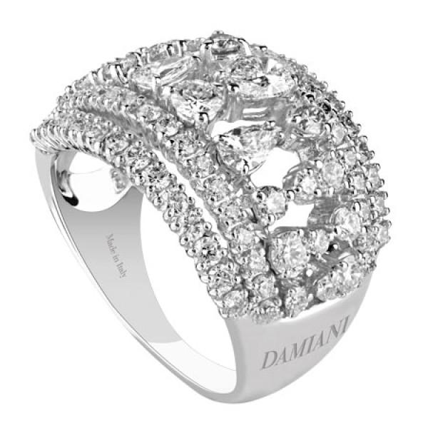Кольцо Damiani Regina Cleopatra белое золото, бриллианты (20046250)