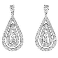Серьги Damiani Regina Cleopatra белое золото, бриллианты (20045938)