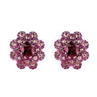 Серьги Damiani Renaissance розовое золото, бриллианты, сапфиры, дихроит (20055415)