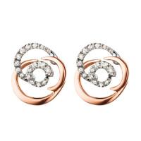 Серьги Damiani Rose розовое, белое золото, бриллианты (20059578)