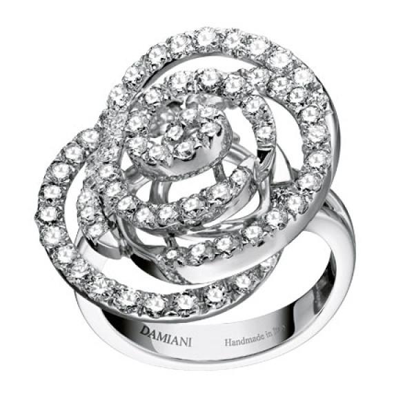 Кольцо Damiani Rose белое золото, бриллианты (20059573)