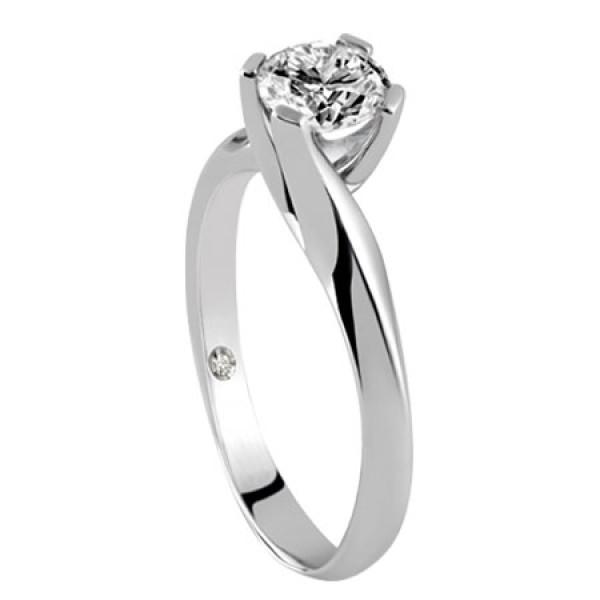 Кольцо Damiani Sand, белое золото, бриллиант