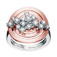 Кольцо Damiani Sophia Loren белое, розовое золото, бриллианты (20019433)