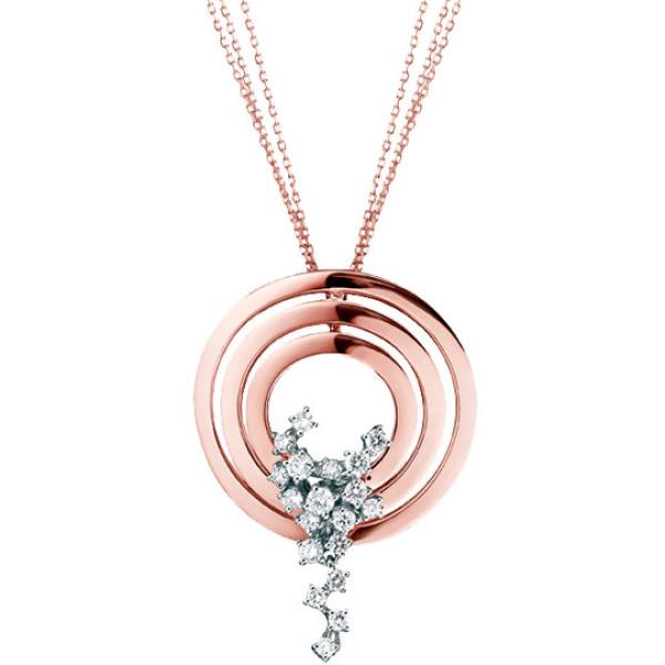 Подвеска Damiani Sophia Loren белое, розовое золото, бриллианты (20019432)
