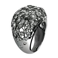 Кольцо Damiani Via Lattea черное золото, бриллианты (20044197)