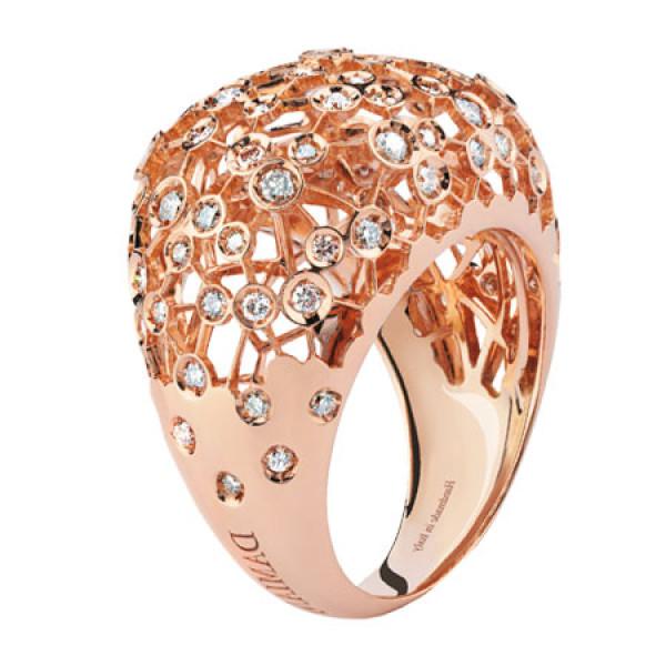 Кольцо Damiani Via Lattea розовое золото, бриллианты (20044189)