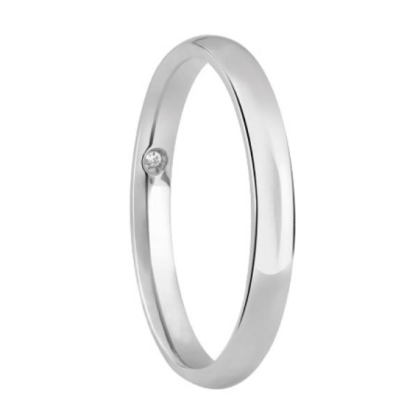 Обручальное кольцо Damiani Noi2 из белого золота (20046528)