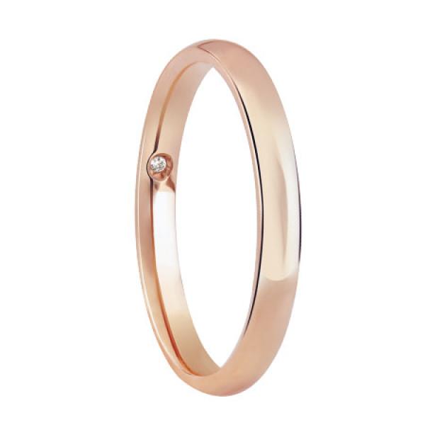 Обручальное кольцо Damiani Noi2, розовое золото (20046532)