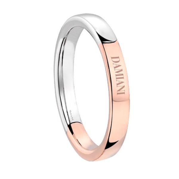 Обручальное кольцо Damiani Incontro, белое, розовое золото (20048735)