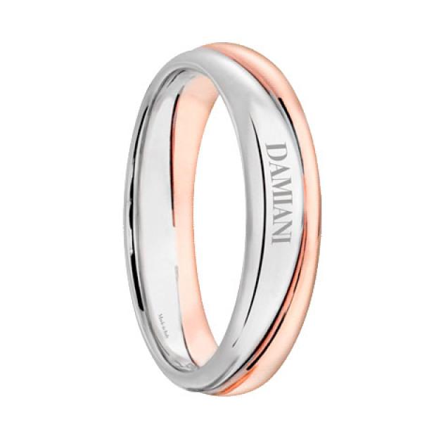 Обручальное кольцо Damiani Incontro, белое, розовое золото (20048742)