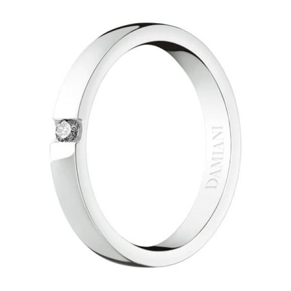 Обручальное кольцо Damiani Veramore, белое золото, бриллиант (20035643)