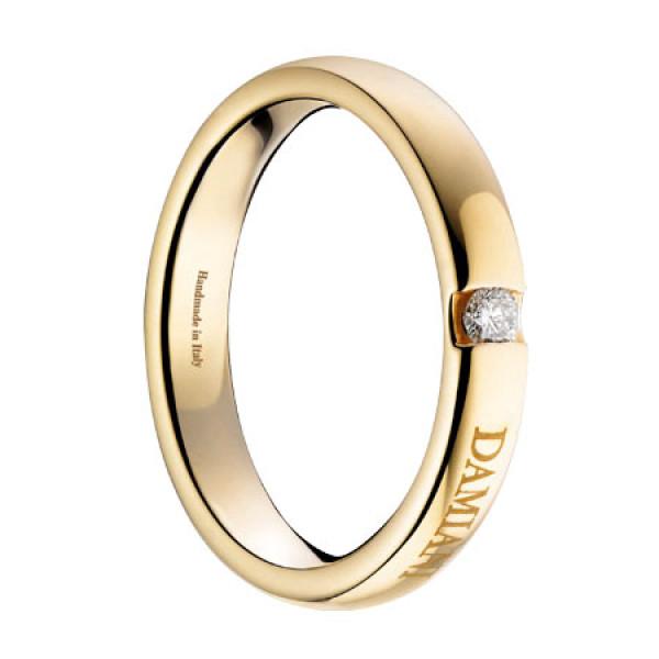 Обручальное кольцо Damiani Veramore, желтое золото, бриллиант (20035664)