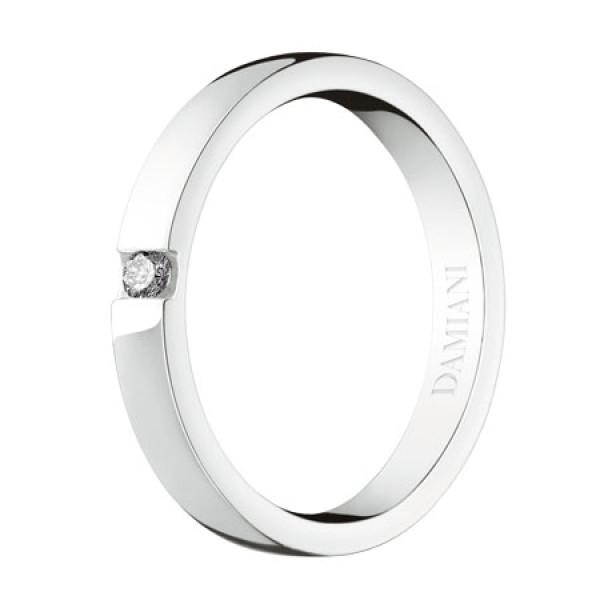 Обручальное кольцо Damiani Veramore, белое золото, бриллиант (20035750)