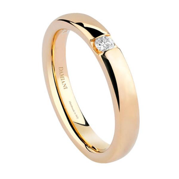 Обручальное кольцо Damiani Veramore, желтое золото, бриллиант (20035770)