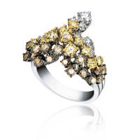 Кольцо Damiani Masterpieces Vulcania белое золото, бриллианты