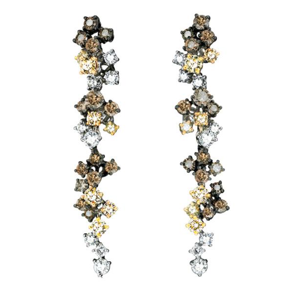 Серьги Damiani Masterpieces Vulcania белое золото, бриллианты