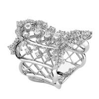 Кольцо Damiani Masterpieces Burlesque белое золото, бриллианты