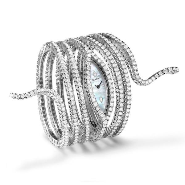 Часы Damiani Masterpieces Eden белое золото, бриллианты