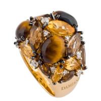 Кольцо Damiani Masterpieces Dorotea желтое золото, бриллианты, драгоценные камни