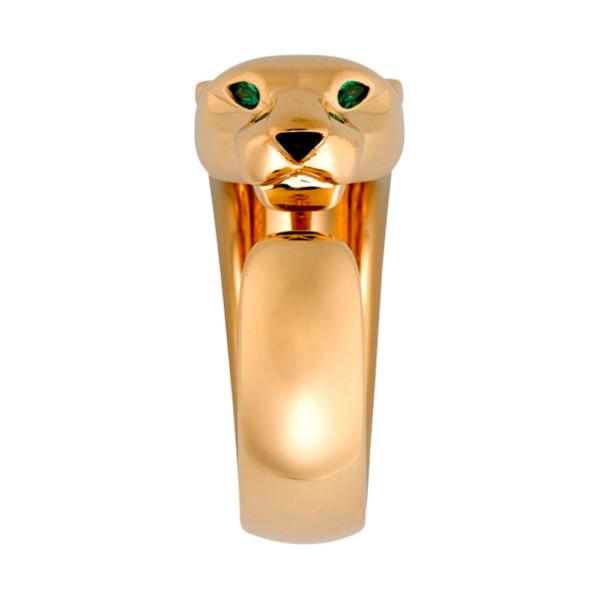 Кольцо Cartier Panthere de Cartier, желтое золото, гранат, оникс