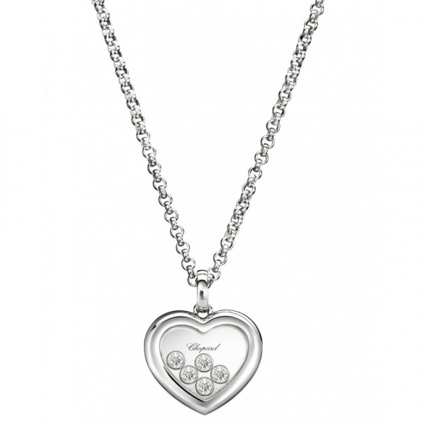 Подвеска Chopard Happy Diamonds белое золото, бриллианты (794612-1001)