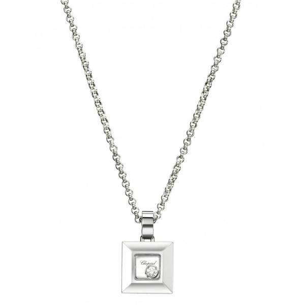 Подвеска Chopard Happy Diamonds белое золото, бриллиант (792938-1001)