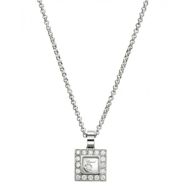 Подвеска Chopard Happy Diamonds белое золото, бриллианты (792896-1001)