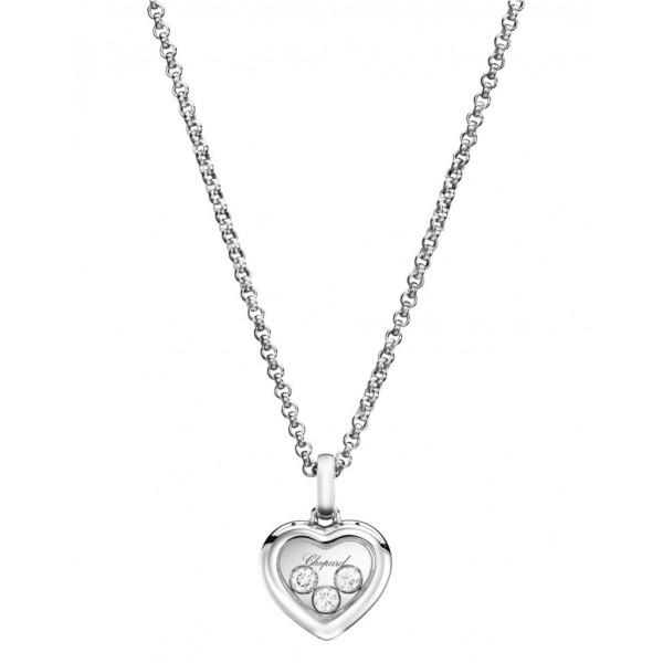 Подвеска Chopard Happy Diamonds белое золото, бриллианты (794611-1001)