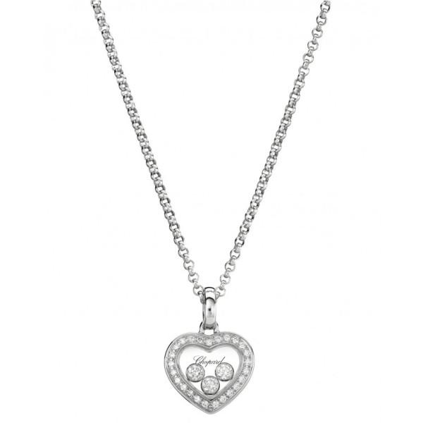 Подвеска Chopard Happy Diamonds белое золото, бриллианты (794502-1001)