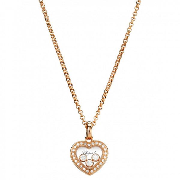 Подвеска Chopard Happy Diamonds розовое золото, бриллианты (794502-5001)