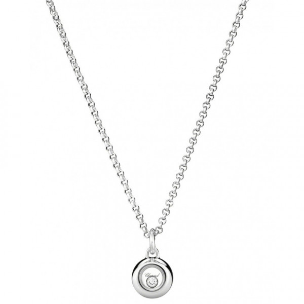 Подвеска Chopard Happy Diamonds белое золото, бриллиант (799010-1001)
