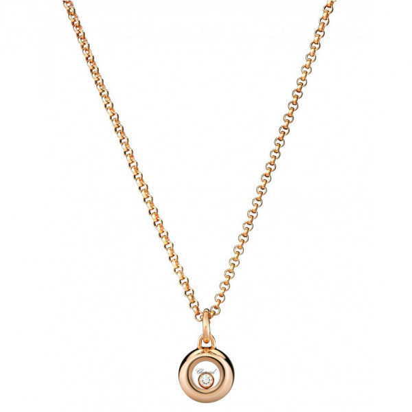Подвеска Chopard Happy Diamonds розовое золото, бриллиант (799010-5001)