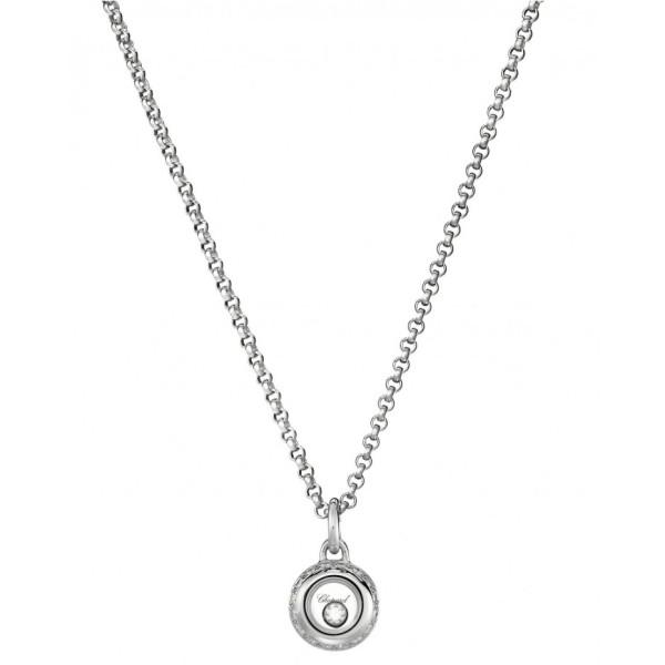 Подвеска Chopard Happy Diamonds Miss Happy белое золото, бриллианты (799012-1001)