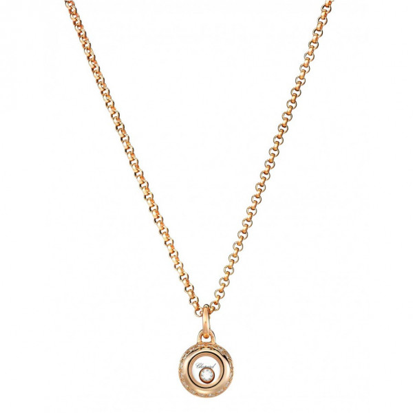 Подвеска Chopard Happy Diamonds Miss Happy розовое золото, бриллианты (799012-5001)